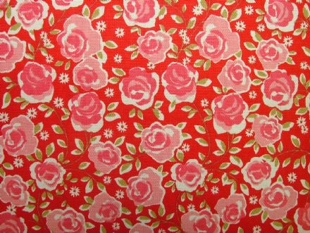 Ashley Wilde Summersdale Poppy 100% Cotton Soft Furnishing /  Curtain Fabric